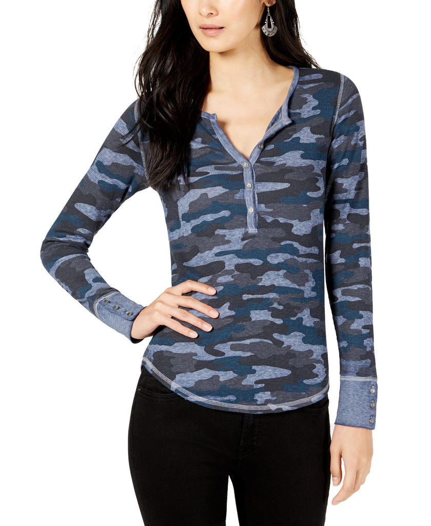 Lucky Brand | Camo Henley Thermal Long Sleeve Top