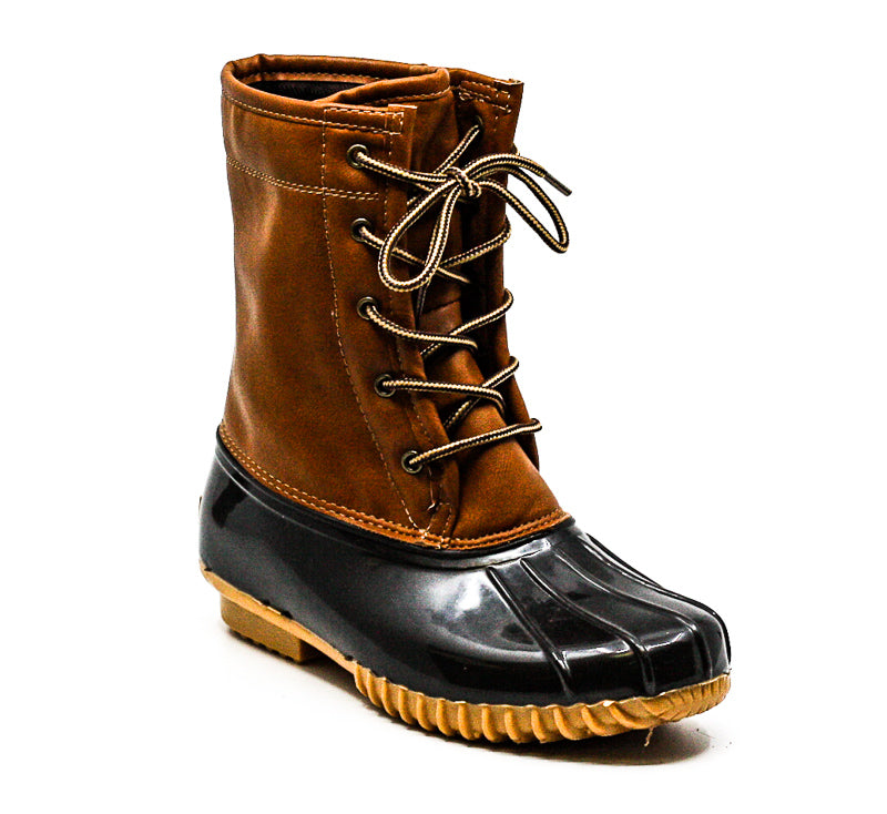Yieldings Discount Shoes Store's Sport Arianna Duck Boots by Sporto in Tan/Brown
