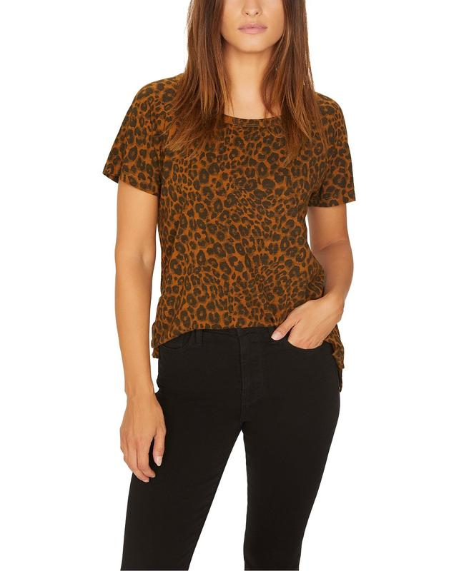 Yieldings Discount Clothing Store's Beacon Tee by Sanctuary in Caramel Leopard