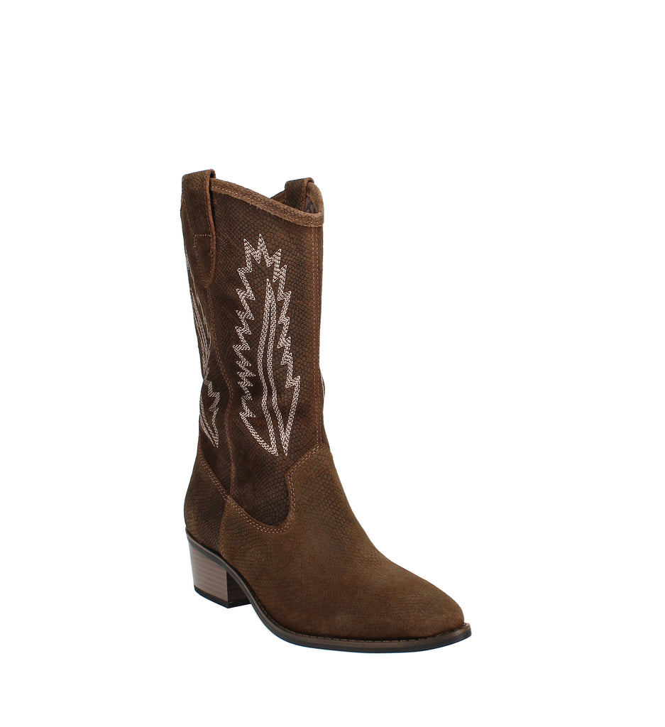 Yieldings Discount Shoes Store's Caraway Cowgirl Boot by White Mountain in Brown