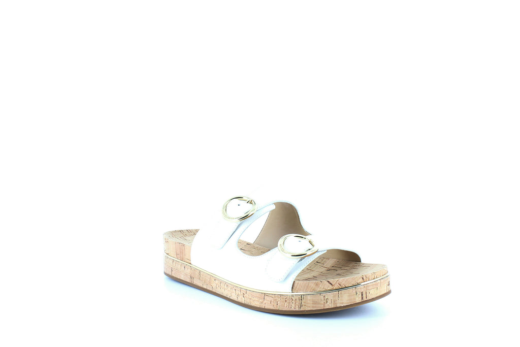 Yieldings Discount Shoes Store's Estelle Slide Sandals by MICHAEL Michael Kors in White