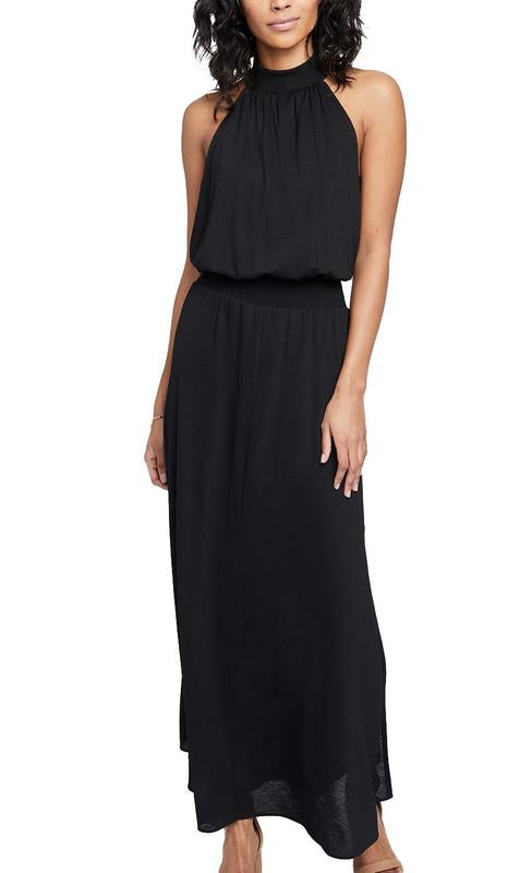 Yieldings Discount Clothing Store's Exposed Side Maxi Dress by RACHEL Rachel Roy in Black