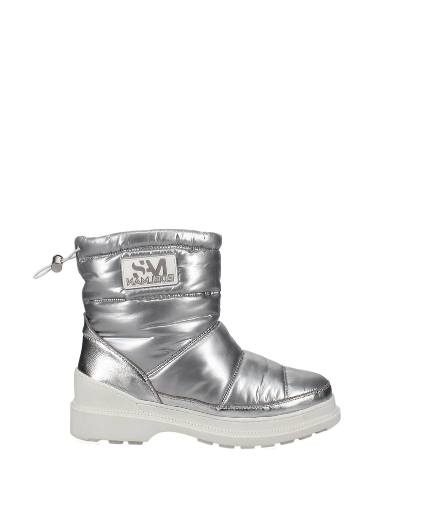 Yieldings Discount Shoes Store's Carlton Puffer Ankle Boots by Sam Edelman in Silver