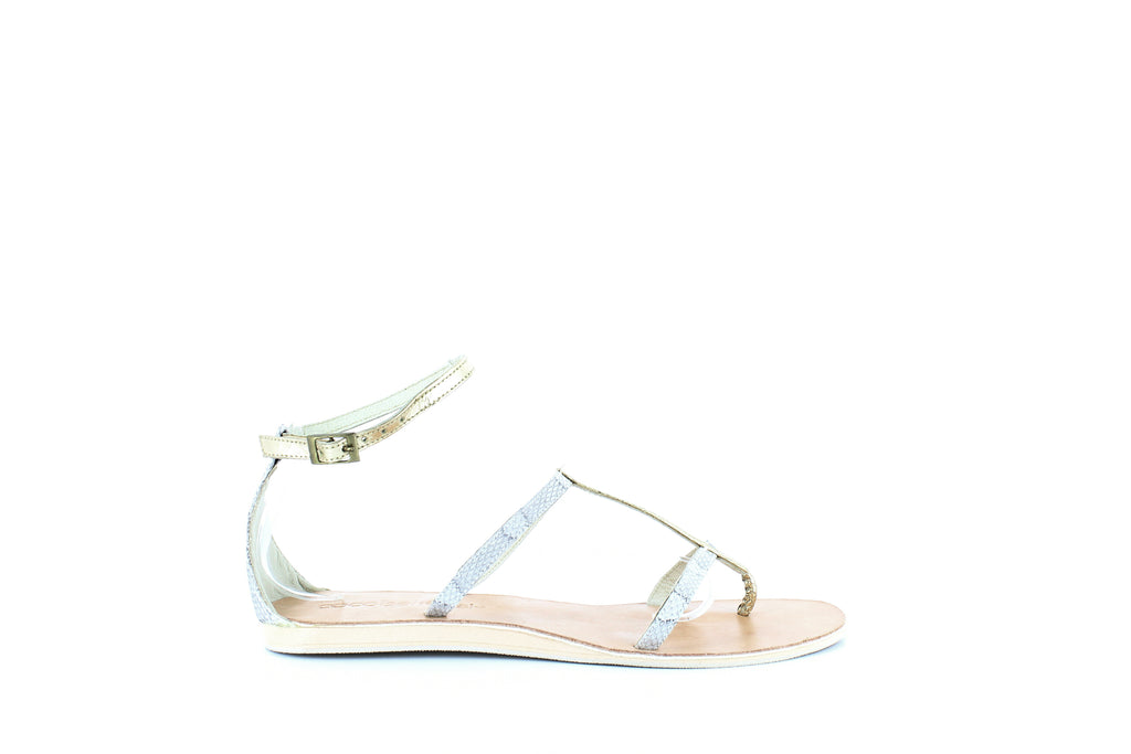 Yieldings Discount Shoes Store's Tanzania Flat Sandals by Cocobelle in Natural