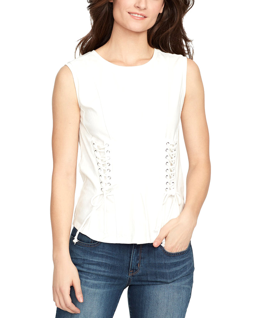 William Rast | Tommie Lace-up Sleeveless Tank Top
