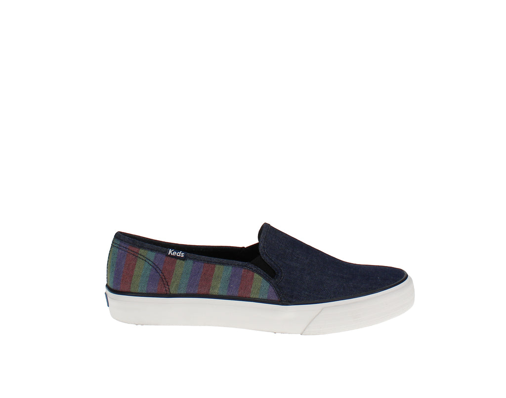 Yieldings Discount Shoes Store's Double Decker Sneakers by Keds in Stripe Navy