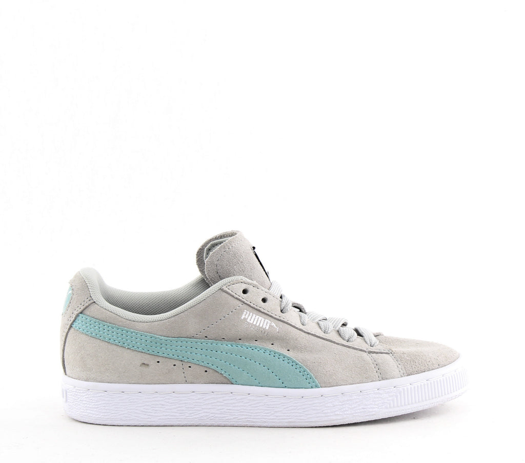 Yieldings Discount Shoes Store's Suede Classic Sneakers by Puma in Glacier Gray/Island Paradise