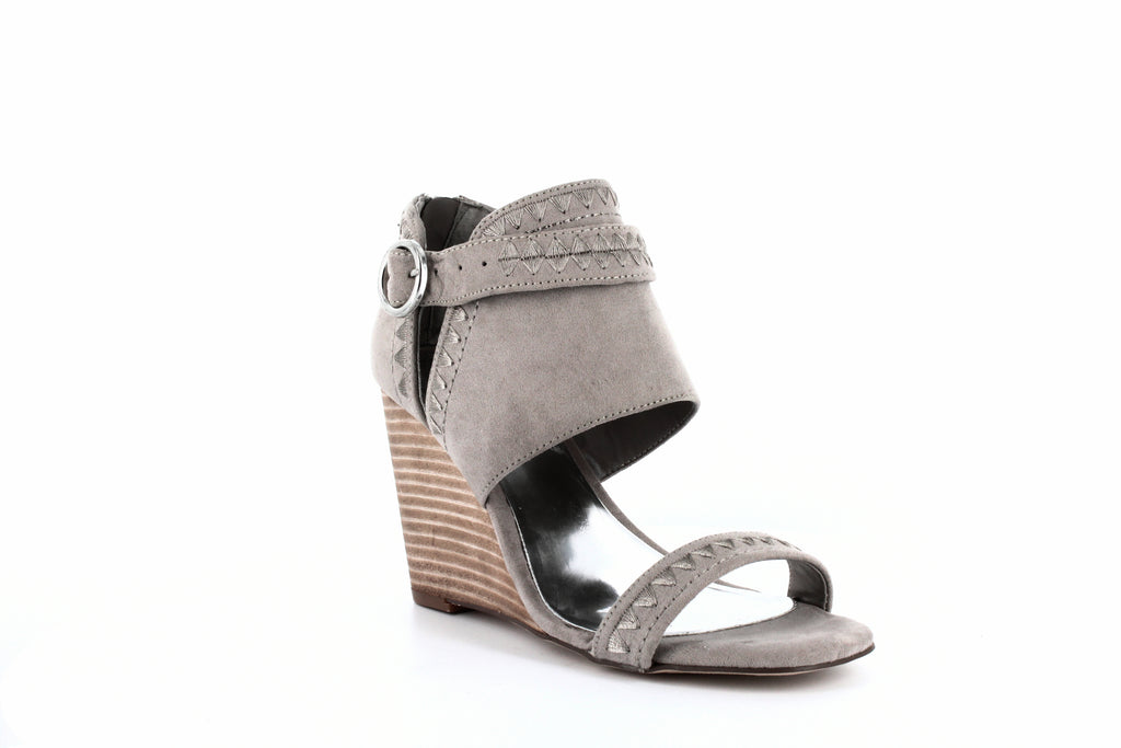 Yieldings Discount Shoes Store's Gadot Wedge Sandals by Carlos by Carlos Santana in Light Doe