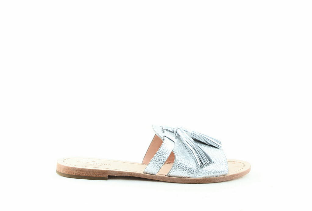 Yieldings Discount Shoes Store's Coby Slip-On Sandals by Kate Spade in Silver