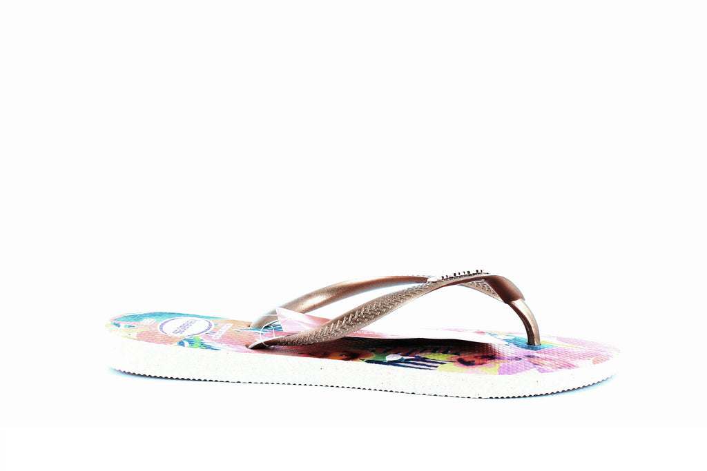 Yieldings Discount Shoes Store's Ballet Rose Tropical Flip-Flops by Havaianas in Ballet Rose