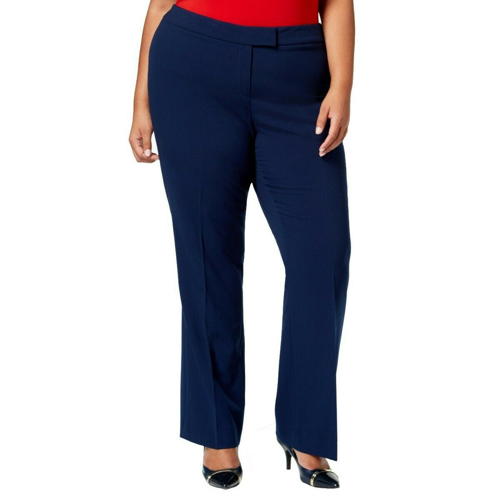 Yieldings Discount Clothing Store's Bowie Tab-Front Pants by Anne Klein in Gauguin