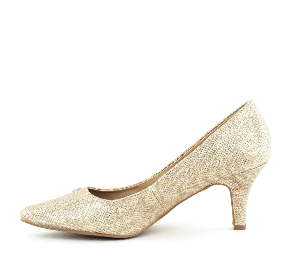 Yieldings Discount Shoes Store's Marlys Pumps by Karen Scott in Gold
