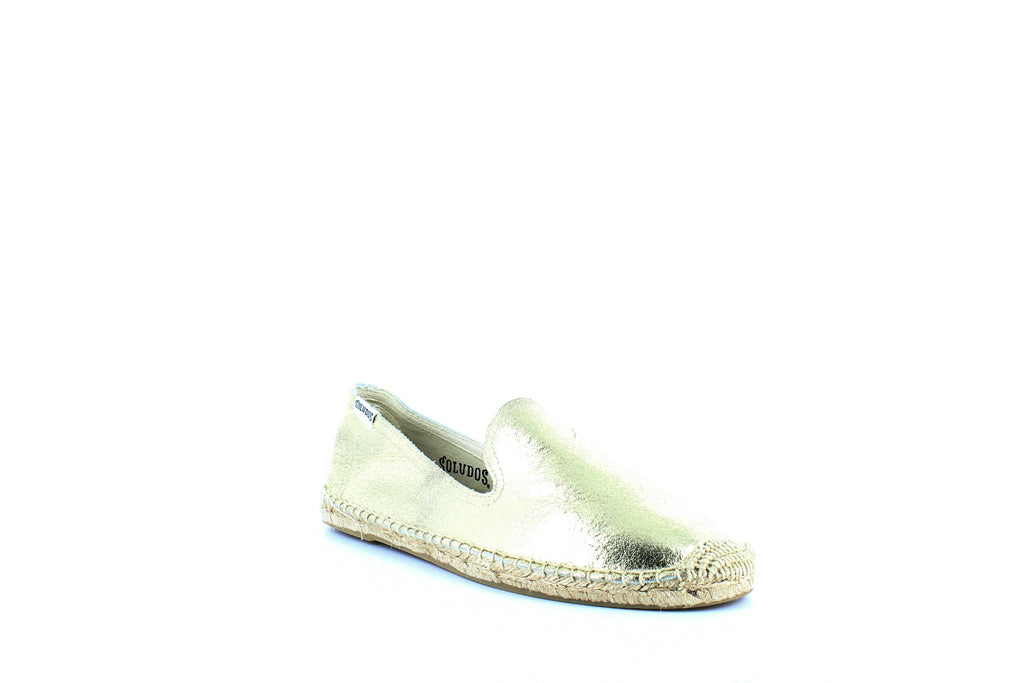 Yieldings Discount Shoes Store's Smoking Slipper Espadrilles by Soludos in Gold