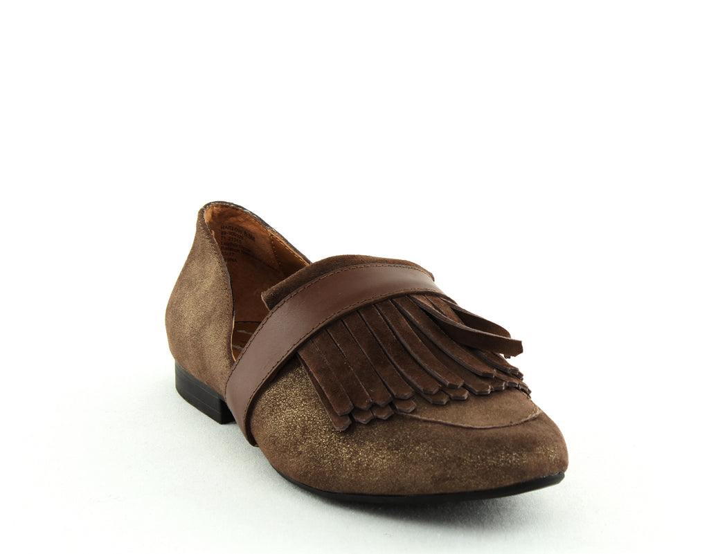 Yieldings Discount Shoes Store's Harlow Cutout Loafers by G.H. Bass & Co. in Mocha