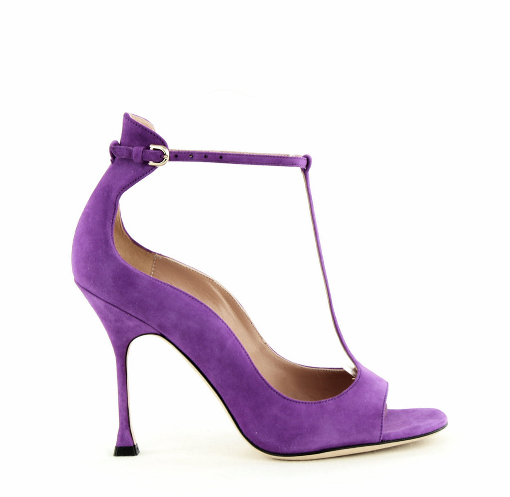 Yieldings Discount Shoes Store's Samantha High-Heel Sandals by Brian Atwood in Violet