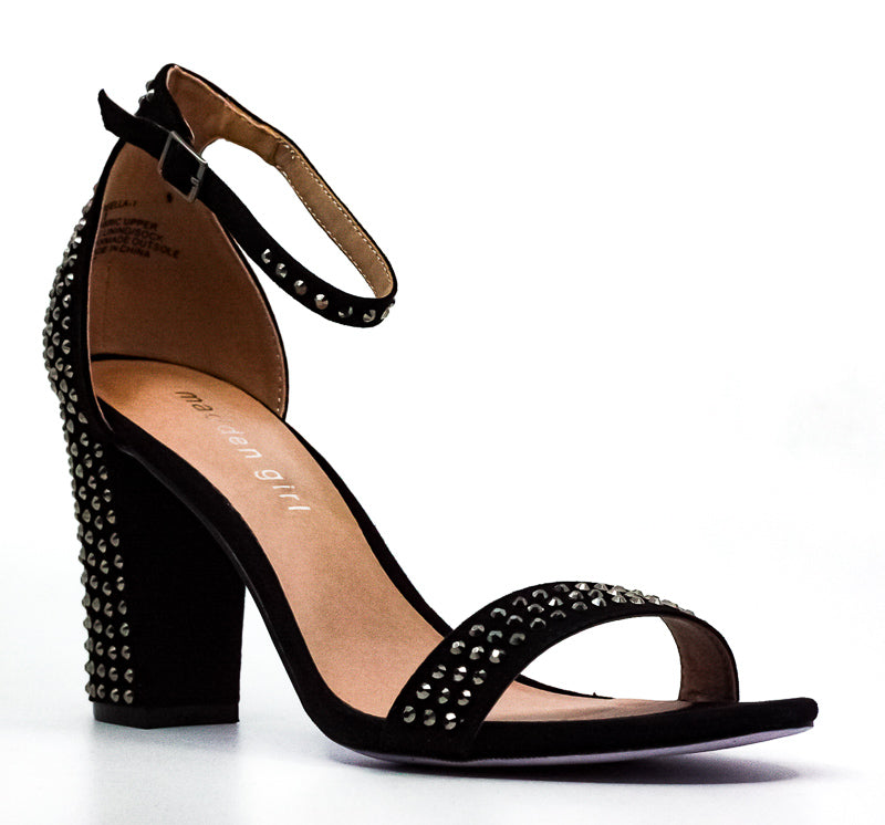 Yieldings Discount Shoes Store's Beella Block Heels by Madden Girl in Black