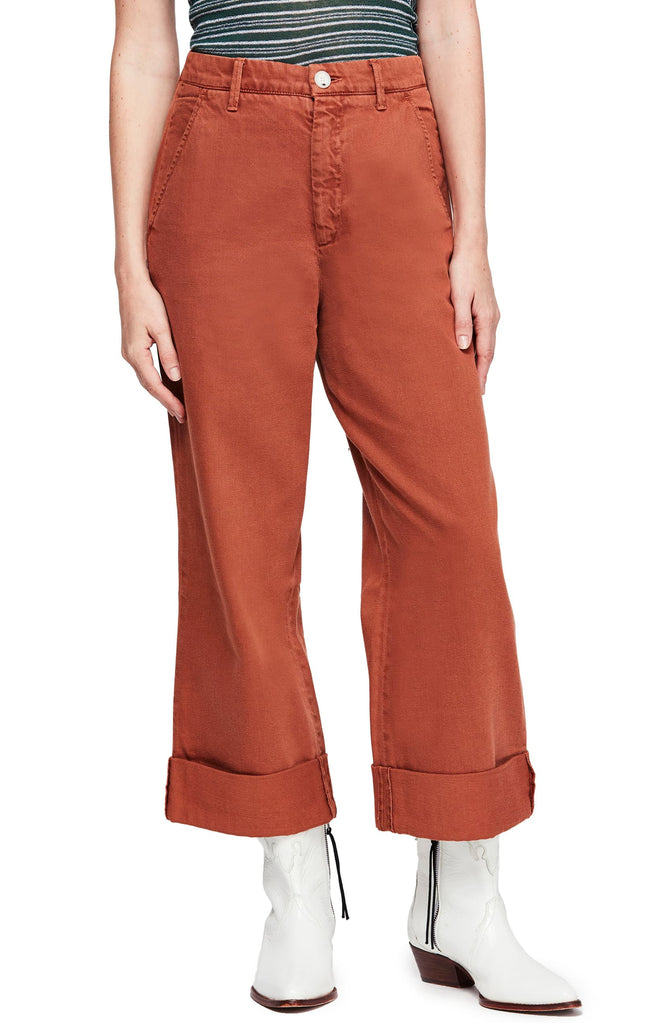 Yieldings Discount Clothing Store's On My Mind Wide Leg Pants by Free People in Terracotta
