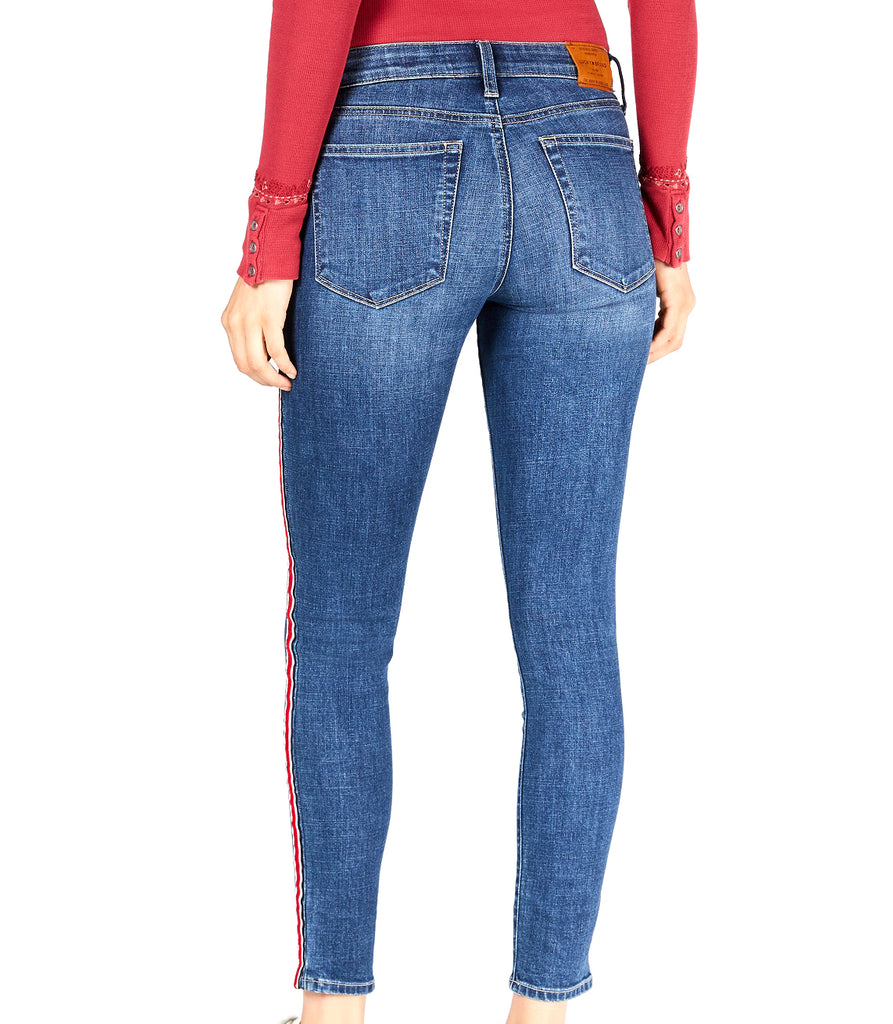 Yieldings Discount Clothing Store's Cherry Ava Skinny Jeans by Lucky Brand in Cherry