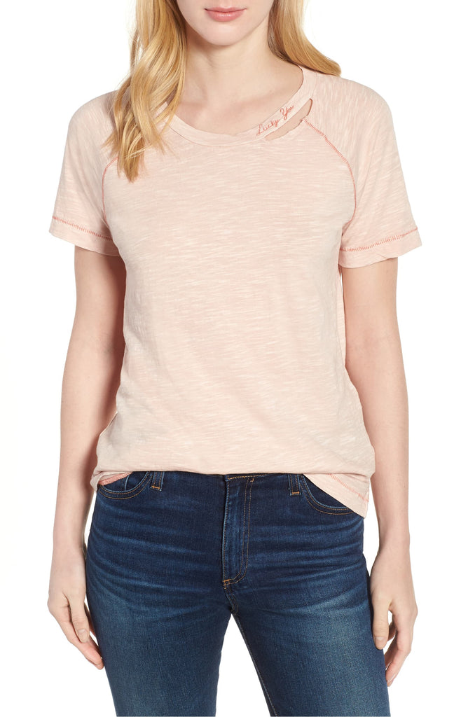 Lucky Brand | Embroidered Lucky You T-Shirt
