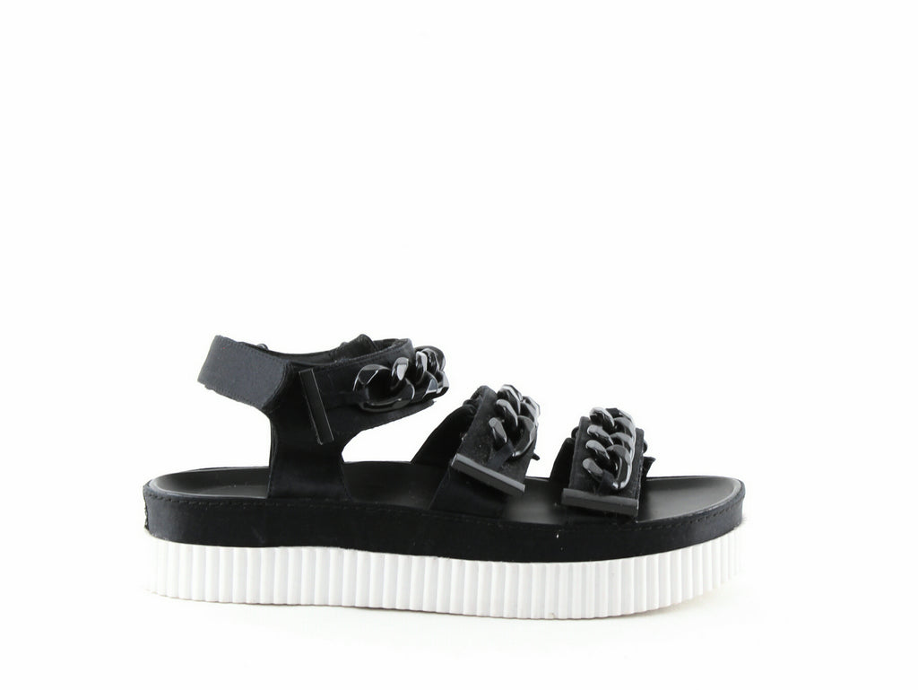 Yieldings Discount Shoes Store's Ivie 3 Platform Sandals by Kendall + Kylie in Black