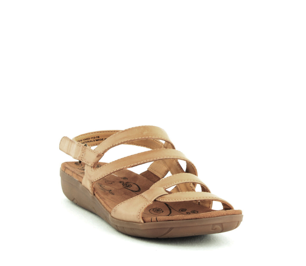 Yieldings Discount Shoes Store's Jerie Wedge Sandals by Baretraps in Caramel