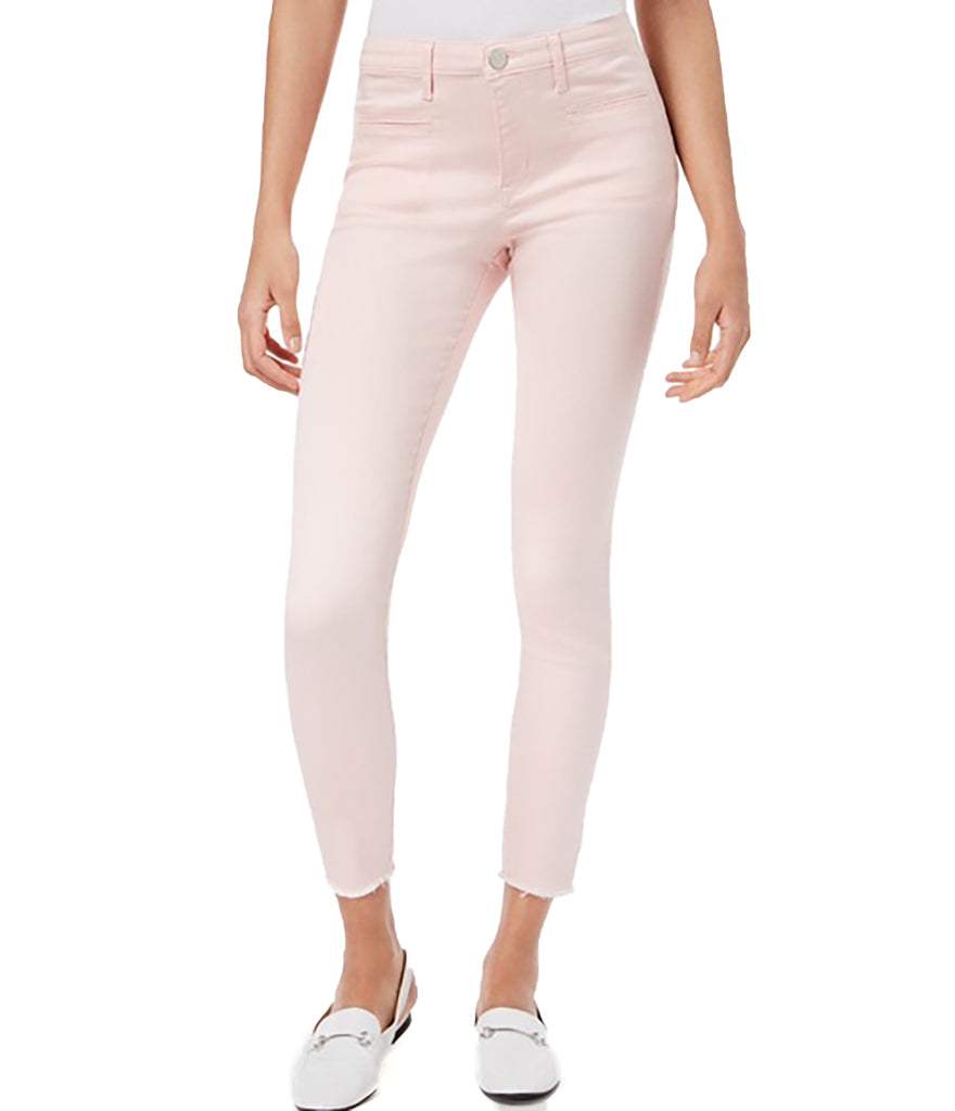 Yieldings Discount Clothing Store's Frayed Skinny Jeans by Maison Jules in Pink Lily