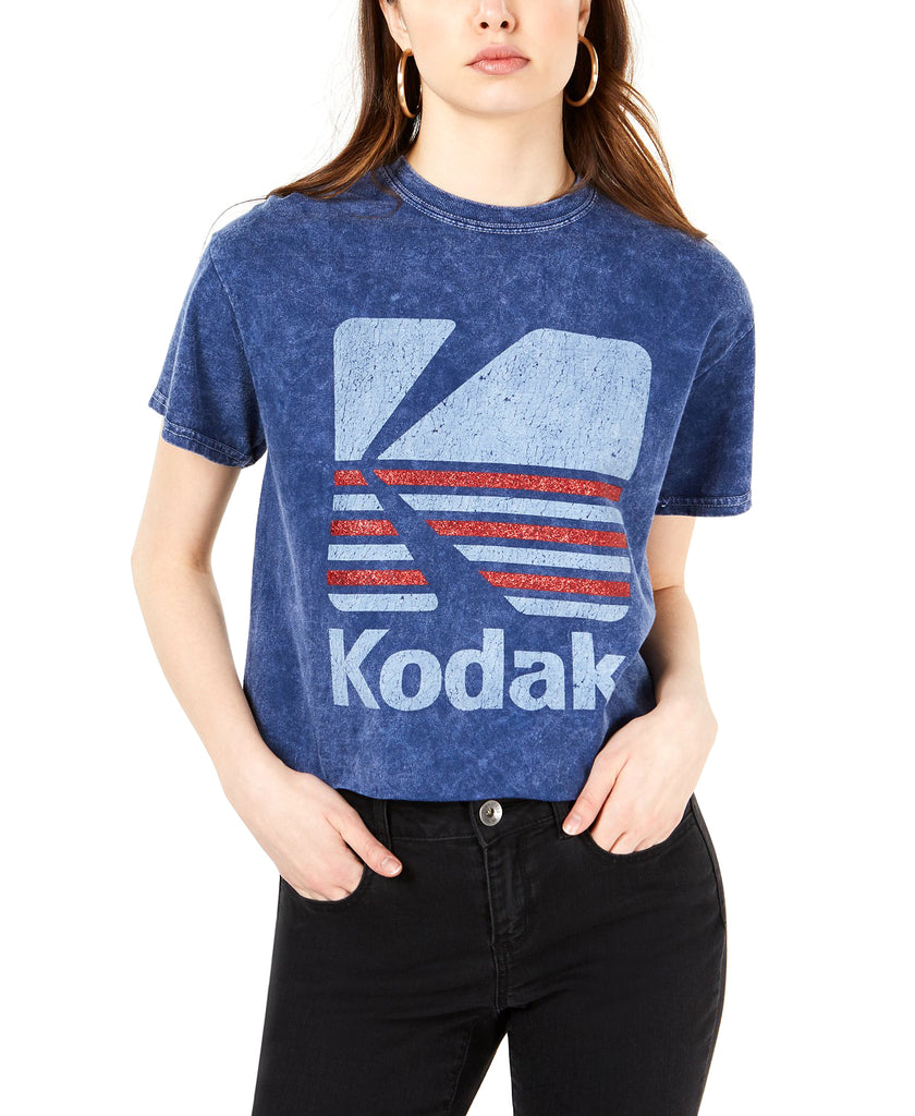 Yieldings Discount Clothing Store's Cotton Kodak Logo Graphic T-Shirt by True Vintage in Medieval Blue
