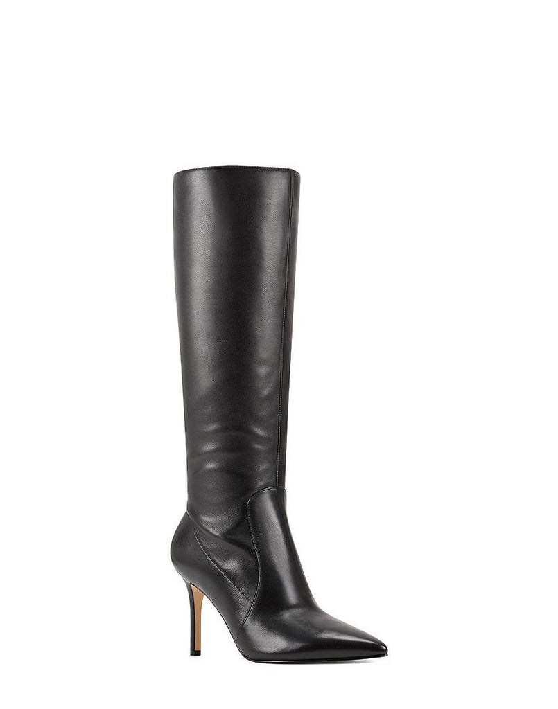 Yieldings Discount Shoes Store's Fivera Dress Boots by Nine West in Black Leather
