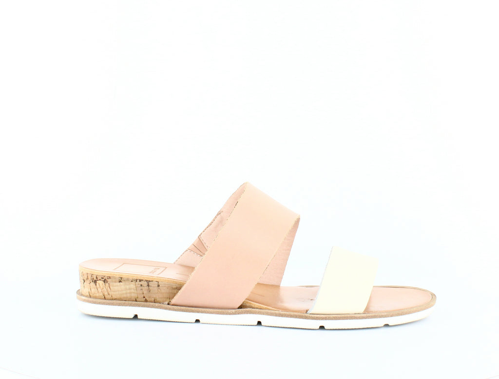 Yieldings Discount Shoes Store's Vala Wedge Slide Sandals by Dolce Vita in Ivory Leather