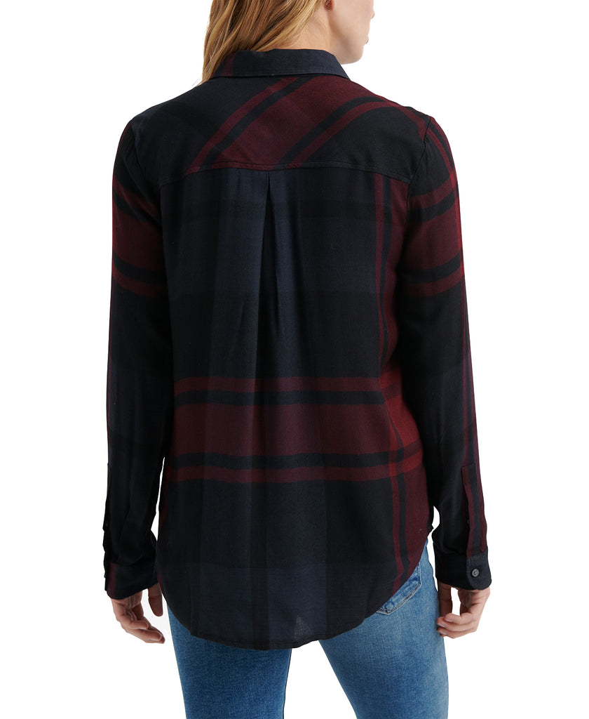 Yieldings Discount Clothing Store's Plaid Button-Down by Lucky Brand in Black