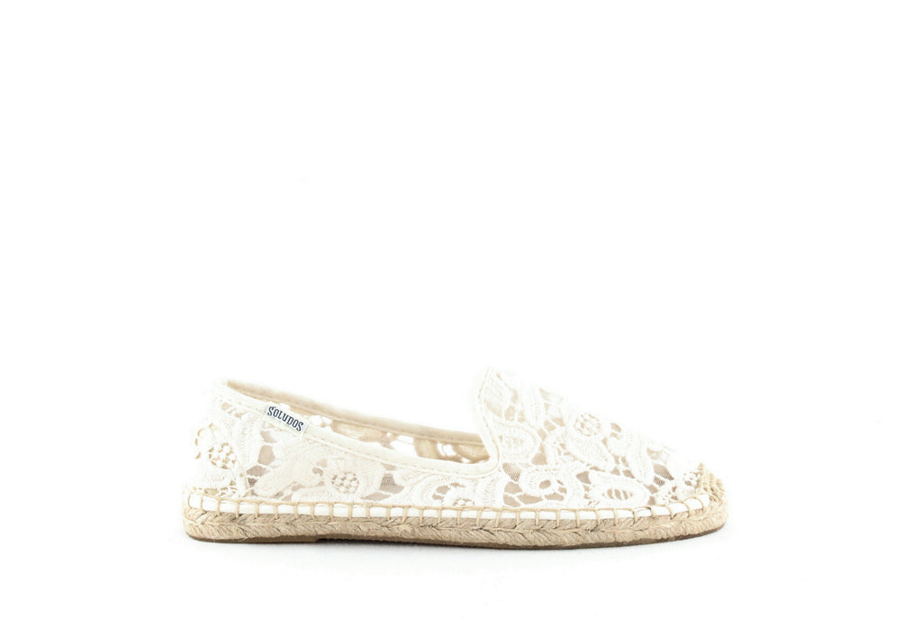 Yieldings Discount Shoes Store's Smoking Slipper Espadrilles by Soludos in Ivory