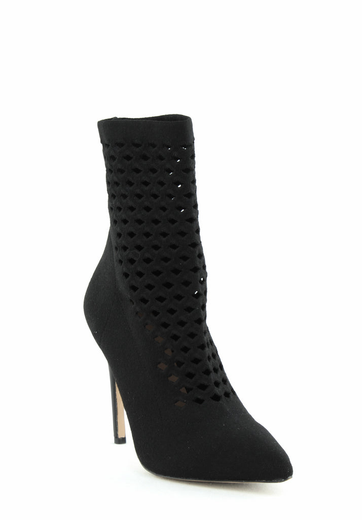 Yieldings Discount Shoes Store's Seassi Sock Booties by Aldo in Black