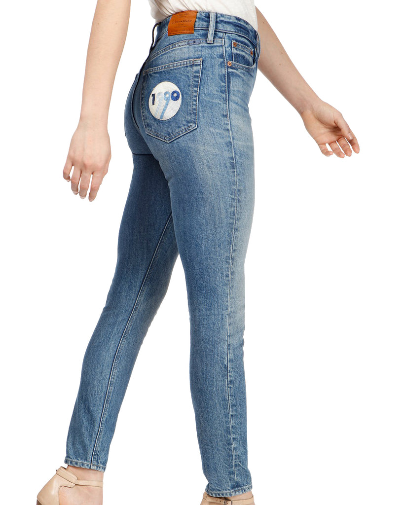 Yieldings Discount Clothing Store's Bridgette Skinny High-Rise Patch Pocket Jean by Lucky Brand in Wise