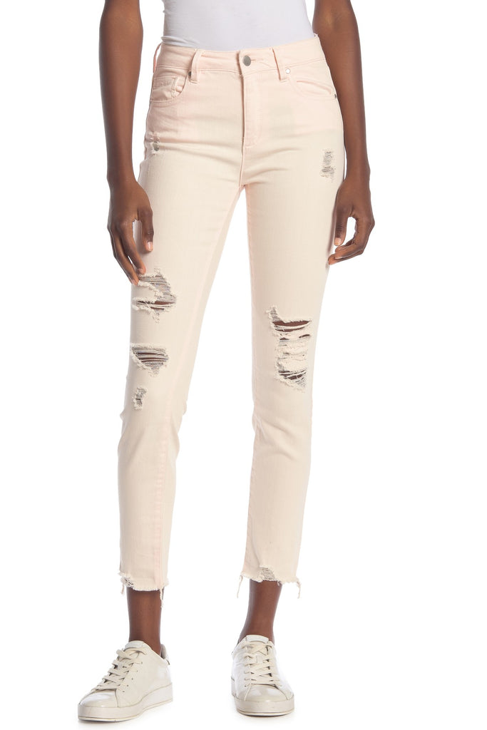 Yieldings Discount Clothing Store's Ripped Skinny Jeans by RACHEL Rachel Roy in Carnation