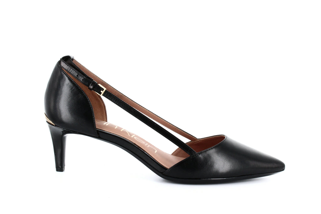 Yieldings Discount Shoes Store's Pashka Open Sided Pumps by Calvin Klein in Black