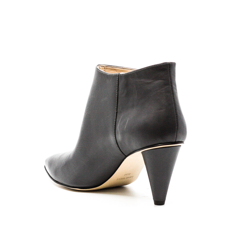 Yieldings Discount Shoes Store's Yames Leather Ankle Booties by Nine West in Dark Grey