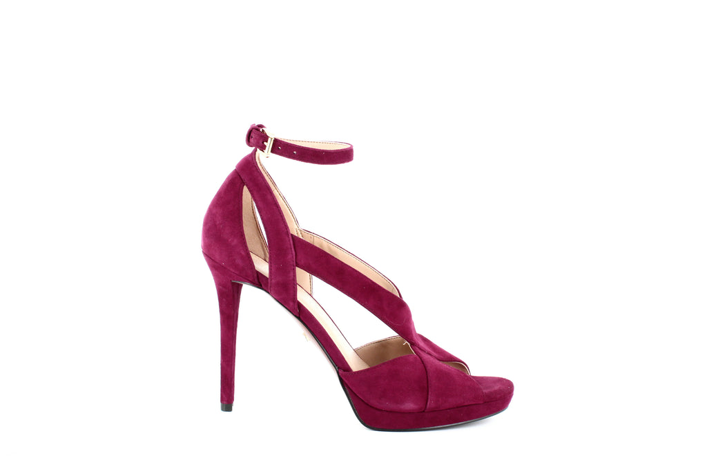 Yieldings Discount Shoes Store's Becky Ankle Strap Sandals by MICHAEL Michael Kors in Maroon