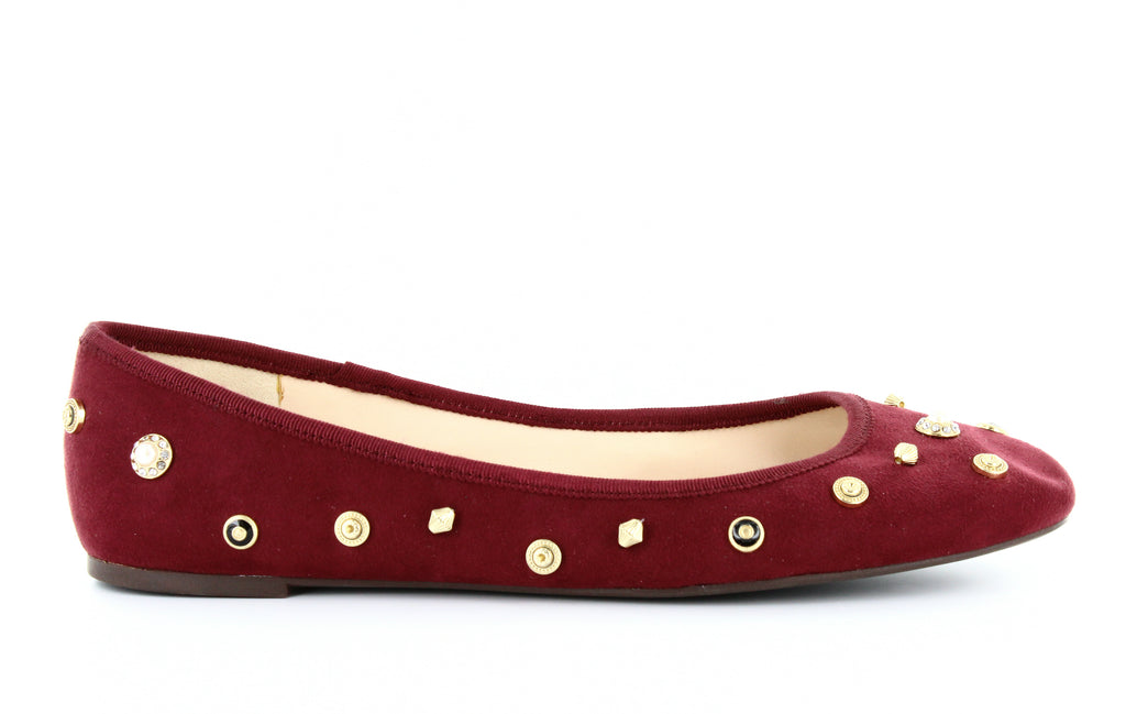 Yieldings Discount Shoes Store's Morton Ballet Flats by Nine West in Wine