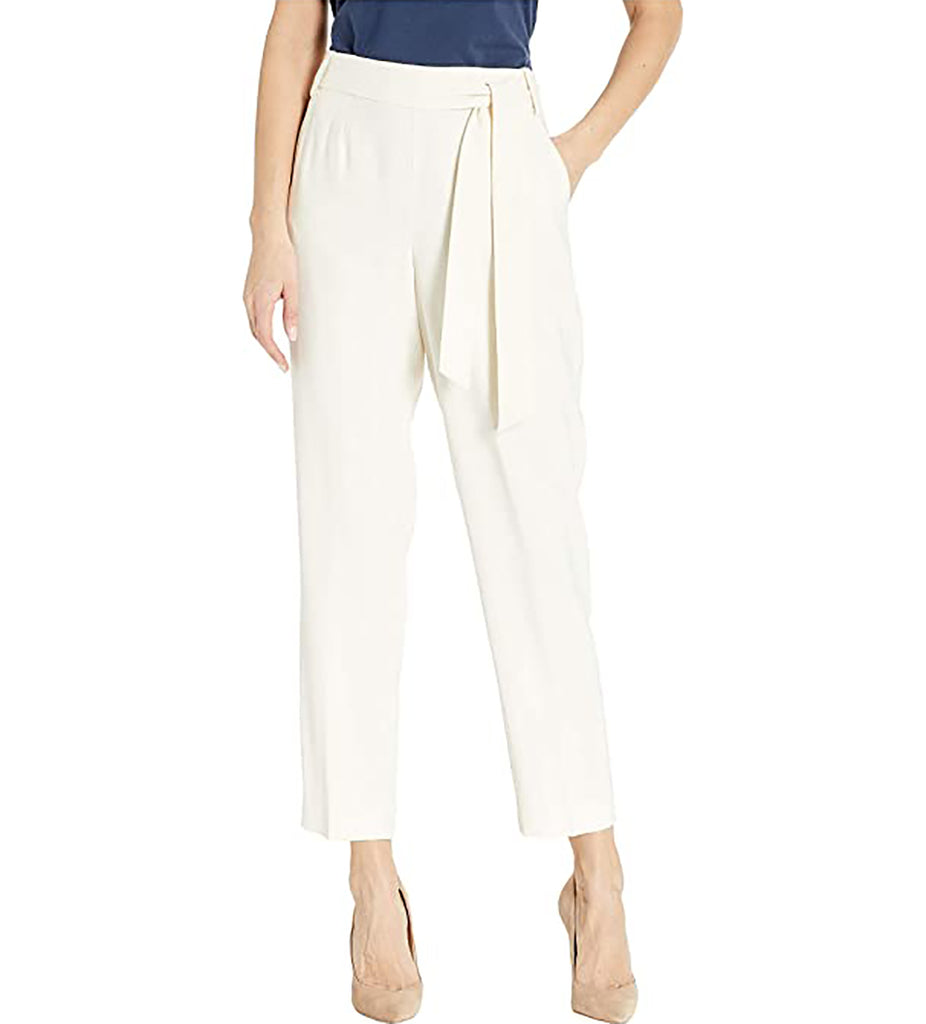 Yieldings Discount Clothing Store's Flat Front Tie Pants by 1.State in White Swan