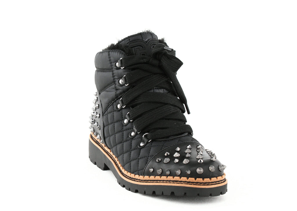 Yieldings Discount Shoes Store's Bren Quilted Studded Ankle Boots by Sam Edelman in Black