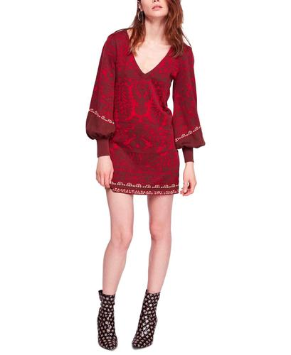 Yieldings Discount Clothing Store's Music and Lyrics Printed Mini Dress by Free People in Red