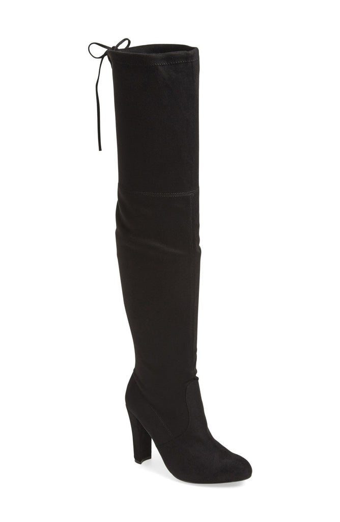 Yieldings Discount Shoes Store's Gorgeous Over The Knee High Boots by Steve Madden in Black