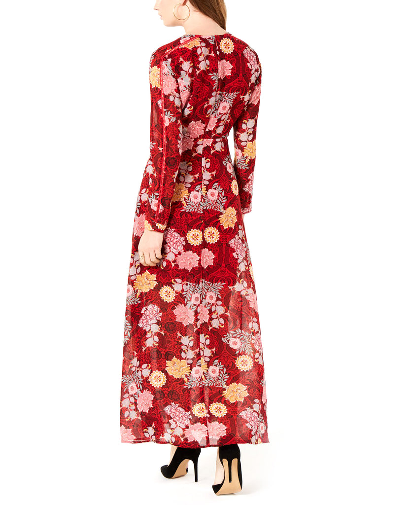 Yieldings Discount Clothing Store's Faux-Wrap Maxi Dress by Guess in Elysian Floral