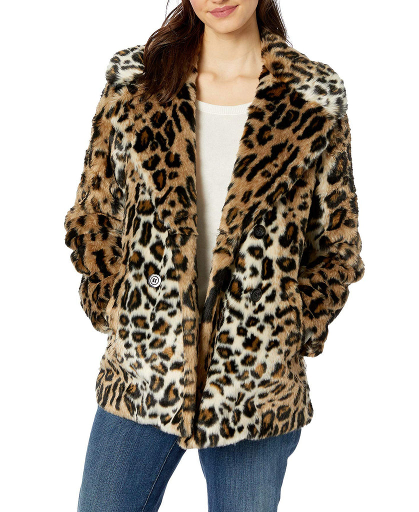 Yieldings Discount Clothing Store's Seeing Spots Faux Fur Coat by Sanctuary in DigitalPrty