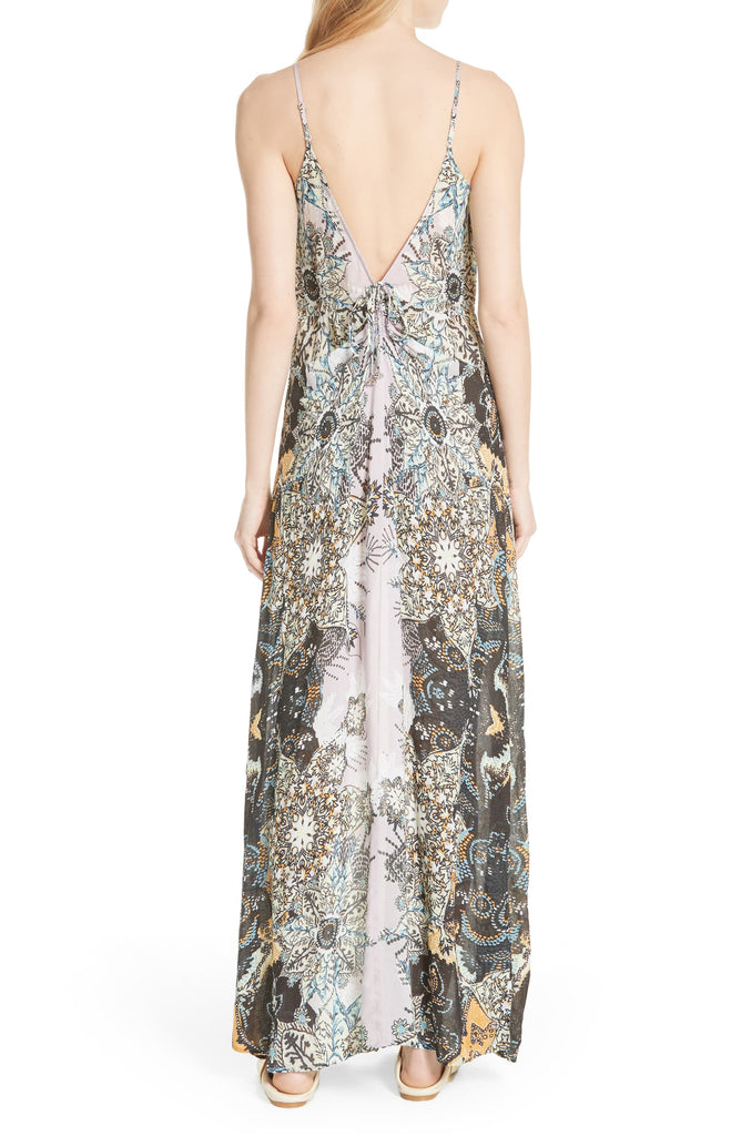 Yieldings Discount Clothing Store's Wildflower Printed Slip Dress by Free People in Lilac