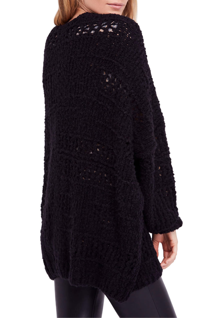 Yieldings Discount Clothing Store's Saturday Morning Cardigan by Free People in Black