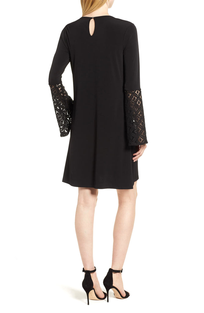 MICHAEL Michael Kors | Lace Inset Bell Sleeves Party Dress