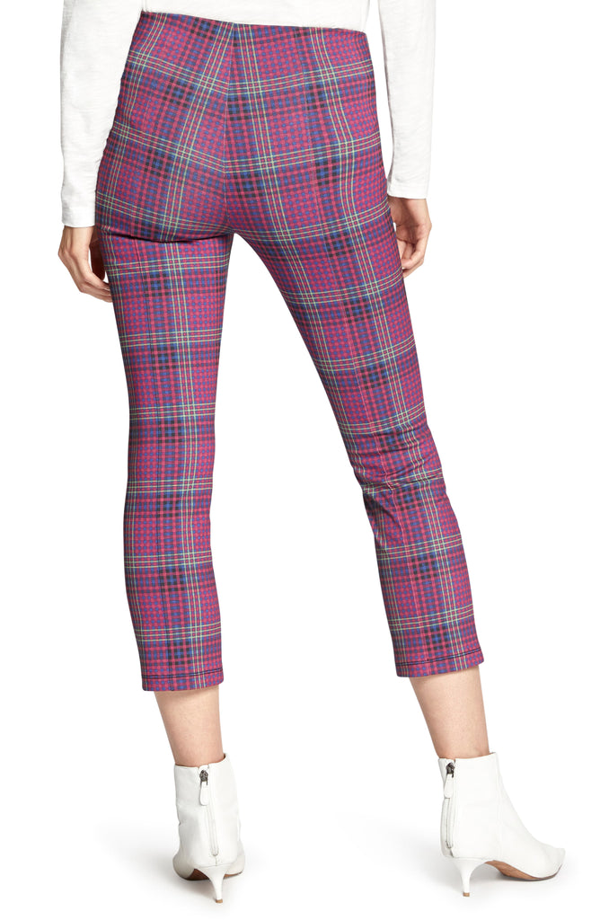 Yieldings Discount Clothing Store's Mod Plaid Capri Leggings by Sanctuary in Disco Plaid