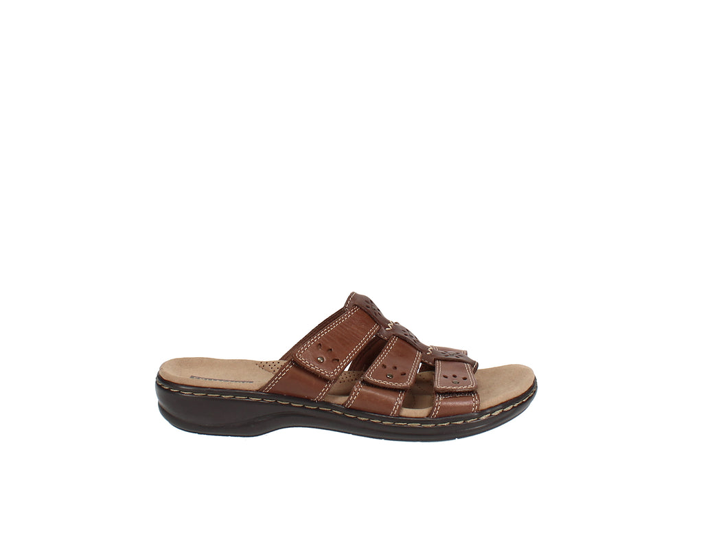 Yieldings Discount Shoes Store's Leisa Spring Sandals by Clarks in Brown