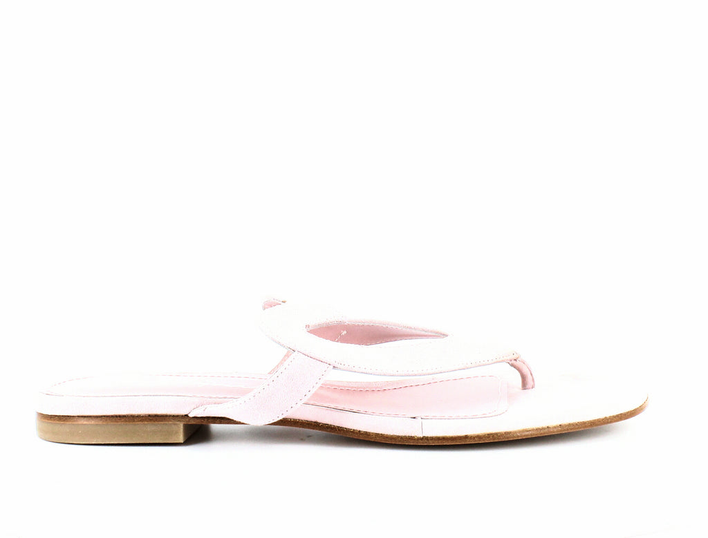 Yieldings Discount Shoes Store's Te Amo Suede Heart Sandals by Isa Tapia in Beverly Hills Pink